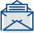 An envelope icon representing the bookkeeping newsletter.
